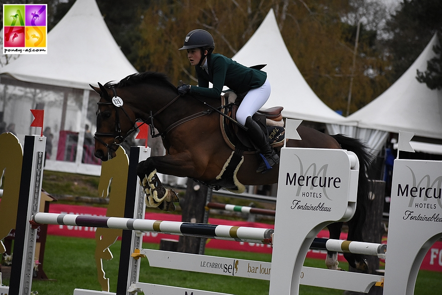 Katie Mclaughlin (Irl) et Corradino du Bary, 8 points - ph. Poney As