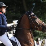 Fiona Tissier et Allstar lors des championnats d'Europe de Bishop Burton - ph. Poney As