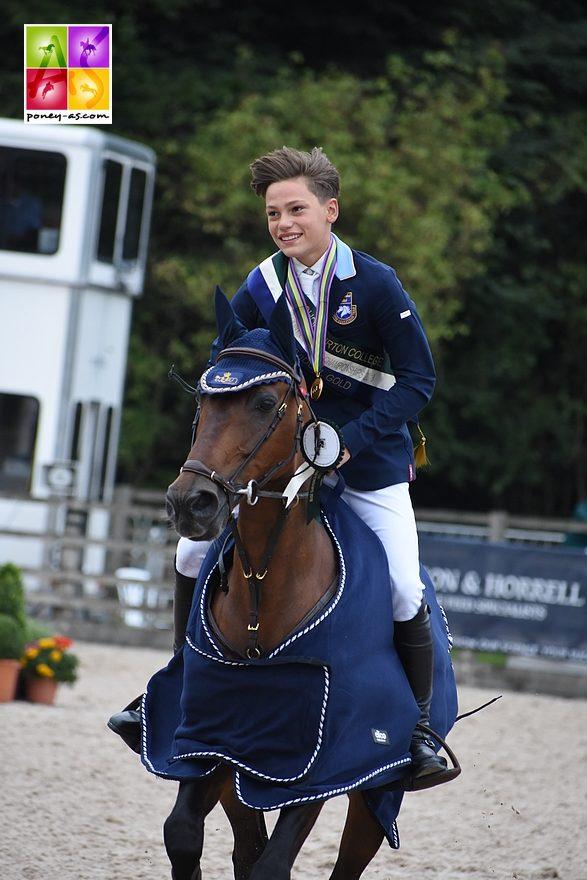 Ingemar Hammarström (Se) et Océan des As sont sacrés champions d'Europe - ph. Poney As