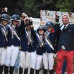 La France est médaillée de bronze en CSO - ph. Poney As