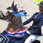 Champion de France des 7 ans - Balisto de Bosa sous la selle de Lou Morali - ph. Poney As