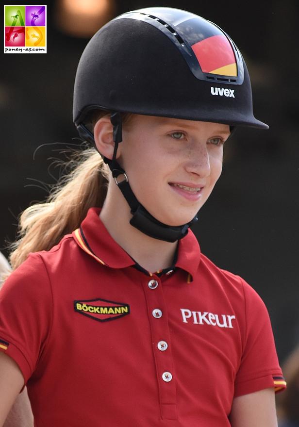 Lucie-Anouk Baumgürtel, cet été aux championnats d'Europe - ph. Poney As