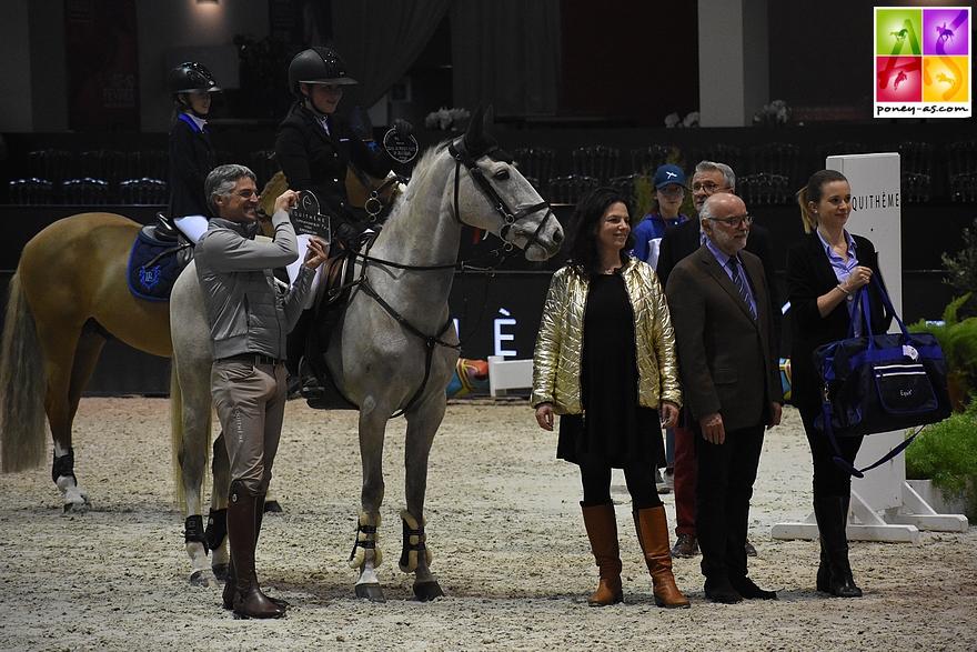 Emma Meric et Venise des Islots remportent l'épreuve de Vitesse du Jumping de Bordeaux - ph. Poney As