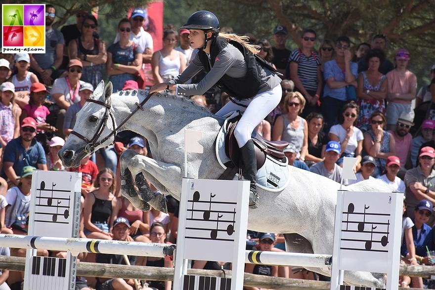 Ilona Mezzadri et Callas Rezidal Z s'offrent un second titre de championnes de France ! - ph. Poney As