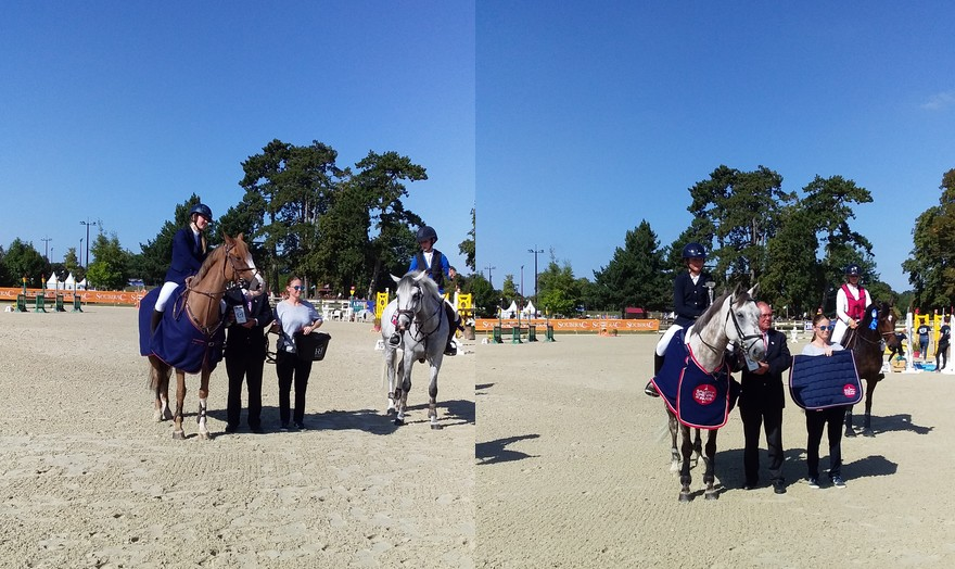 Les gagnantes d'hier sont les gagnantes d'aujourd'hui à Jardy. A gauche, la Néerlandaise Isabel Roepel (Anouck). A droite, la Française Emma Koltz (Cesar de la Bauche) – ph. Sandrine Febvet