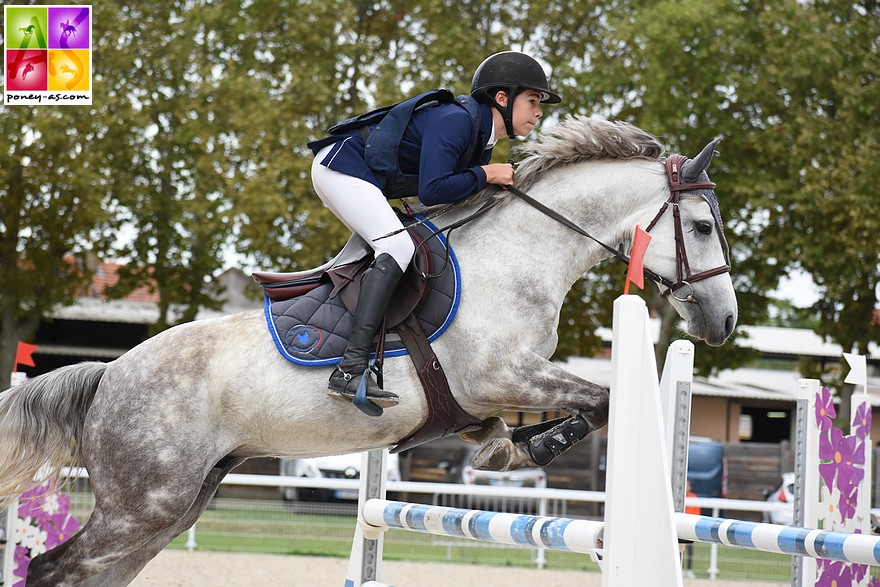 Mathis Vallat et Cogito d'Hurl'Vent - ph. Poney As