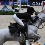 Au terme d'un parcours sans faute et efficace, Emma Méric et Venise des Islots se sont classées 5e de la première épreuve internationale de Lyon - ph. Poney As