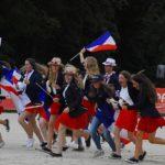 L'équipe de France lors de la cérémonie d'ouverture des championnats d'Europe de Strzegom en 2019 - ph. Poney As