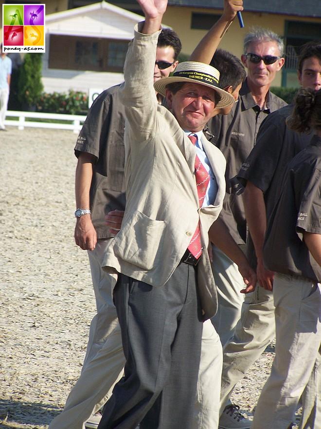 Marcel Delestre, en 2006, lors des championnats d'Europe poneys de Saumur - ph. Poney As