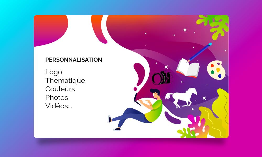 Personnalisation graphique site Internet