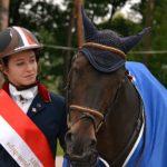 Luce Bentejac et l'étalon Mon Nantano de Florys SL sont les premiers champions d'Europe français de l'histoire – ph. Poney As
