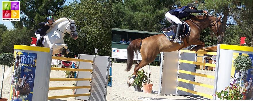 Dexter et Queen, classés respectivement 7e et 5e de la finale individuelle de CSO - ph. Poney As