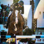 Pierre-Alain Mortier lors de la tournée du Morocco Royal Tour à la Garde Royale de Tétouan en octobre dernier. En photo sur le Grand Prix du CSI 4*-W à 1,60 m avec Just Do It R. Le couple termine 9e avec un barrage à 4 points - ph. La Petite'L
