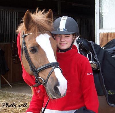 Alizée et son poney de Grand Prix Amber - ph. coll. privée