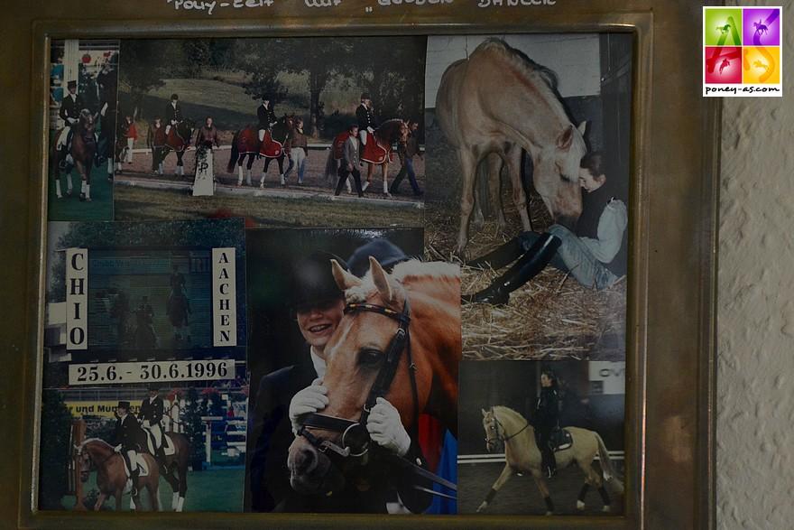 L'entente entre Golden Dancer et la jeune Jana Kun était parfaite. Avec cette talentueuse cavalière, l'étalon a connu ses plus belles victoires dont la double médaille d'or aux championnats d'Europe en 1996 - ph. Poney As