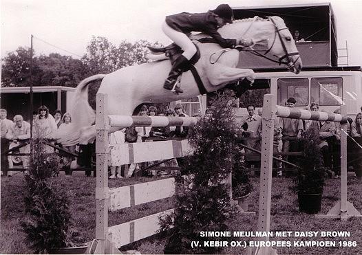 Simone Meulman et Daisy Brown aux championnats d'Europe de San Remo en 1986 - ph. coll. vd Laar