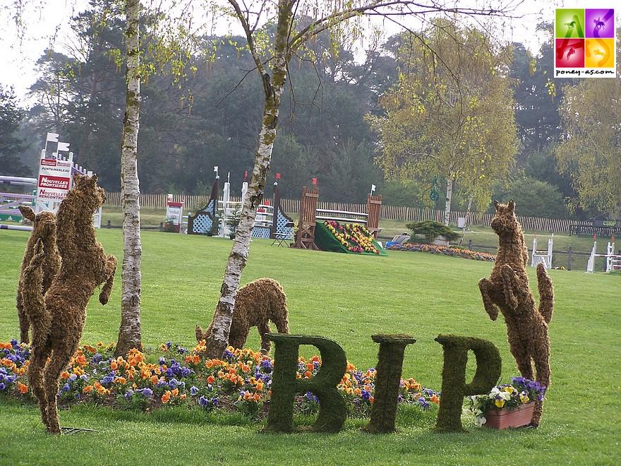 L'une des signatures du BIP : les fameux décors en buis - ph. Poney As