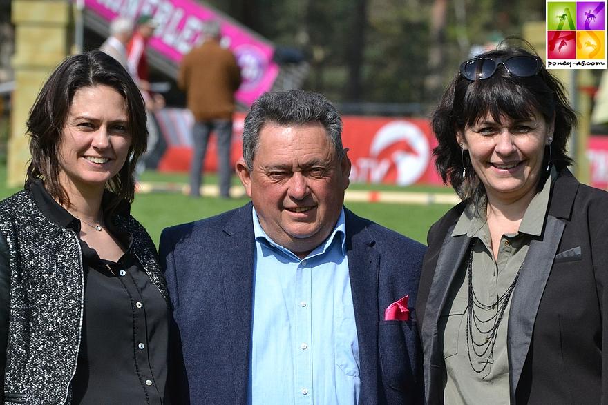 L'équipe AMC, André, Mélanie et Christelle Bonneau - ph. Poney As