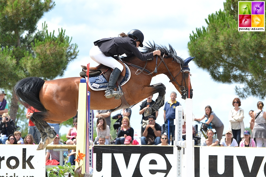 Quabar et Ninon lors de leur premier championnat de France As Elite (Petit Grand Prix) en 2012 - ph. Poney As