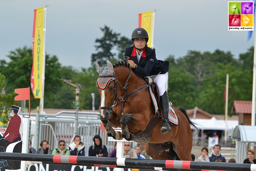 Ninon et Quabar en 2014... 8 Grands Prix As Excellence remportés et le titre de champion de France ! - ph. Poney As