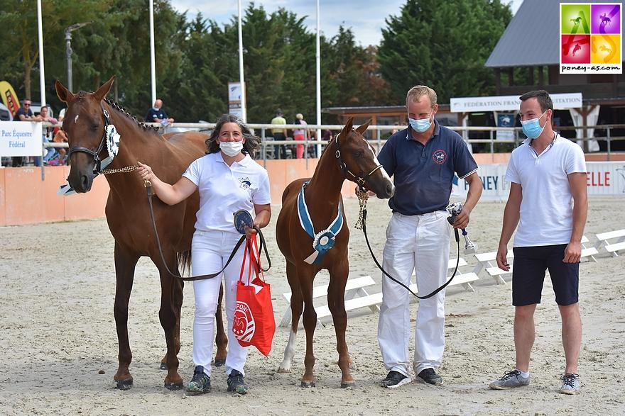 Le foal Kif Rislois, né chez Gwenola et Arnaud Bonvalet, remporte le titre de champion de France des mâles Pfs – ph. Poney As