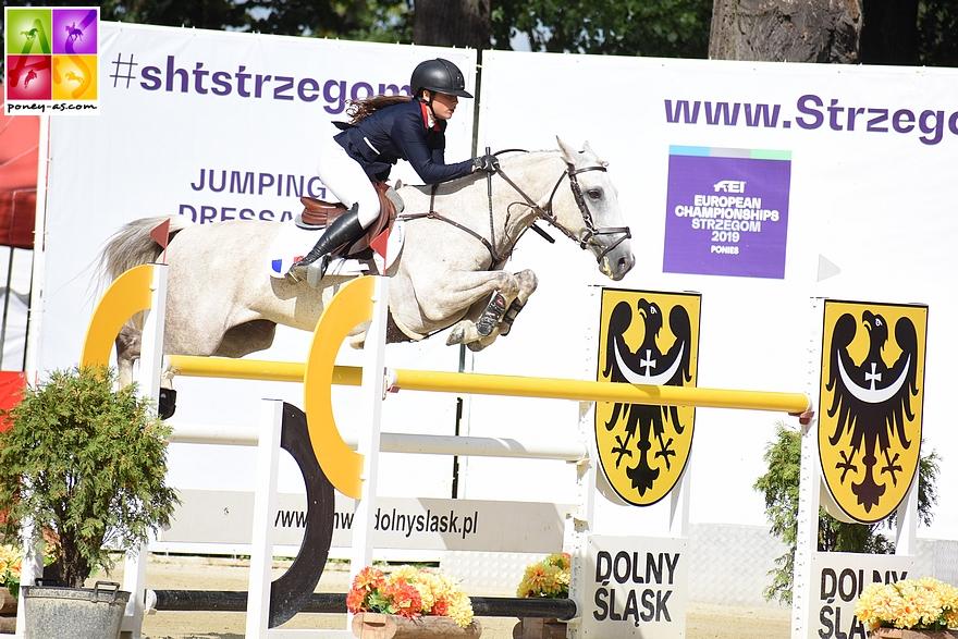 Toujours à Strzegom lors des championnats d'Europe. Le couple termine 20e ex de la finale individuelle - ph. Poney As