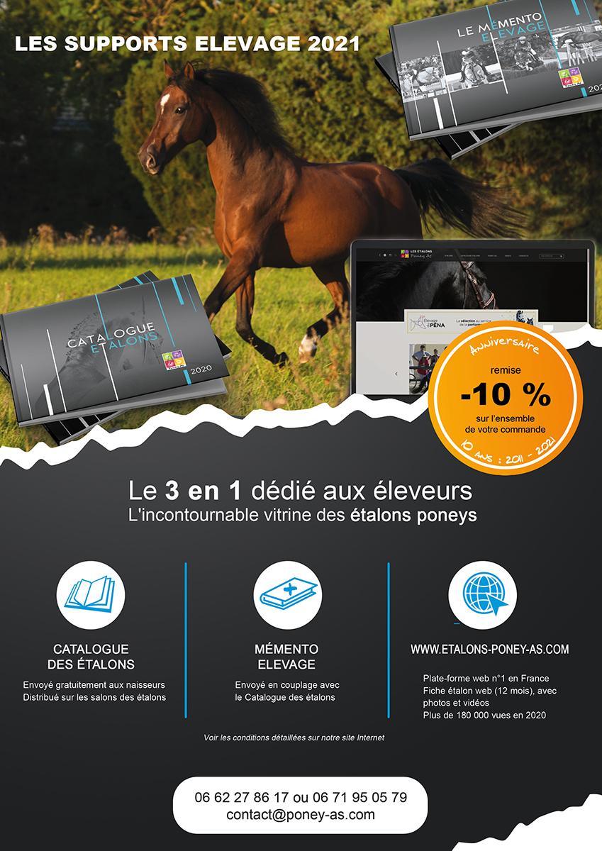 Plaquette supports élevage Poney As 2021